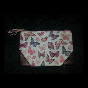 Social butterfly makeup bag